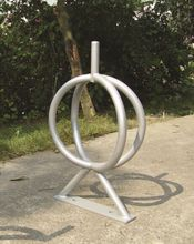Powder coated outdoor metal bicycle stand