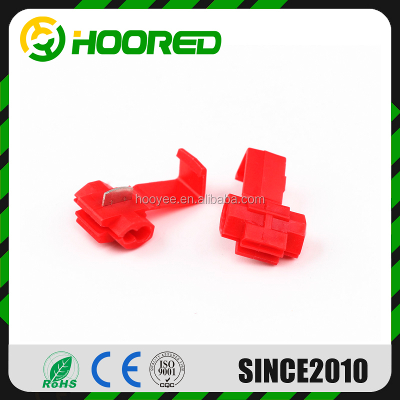 100PCS Red Quick Splice Scotch Lock 22-18 AWG Wire Connectors Insulated Electrical Cable Crimp Terminals