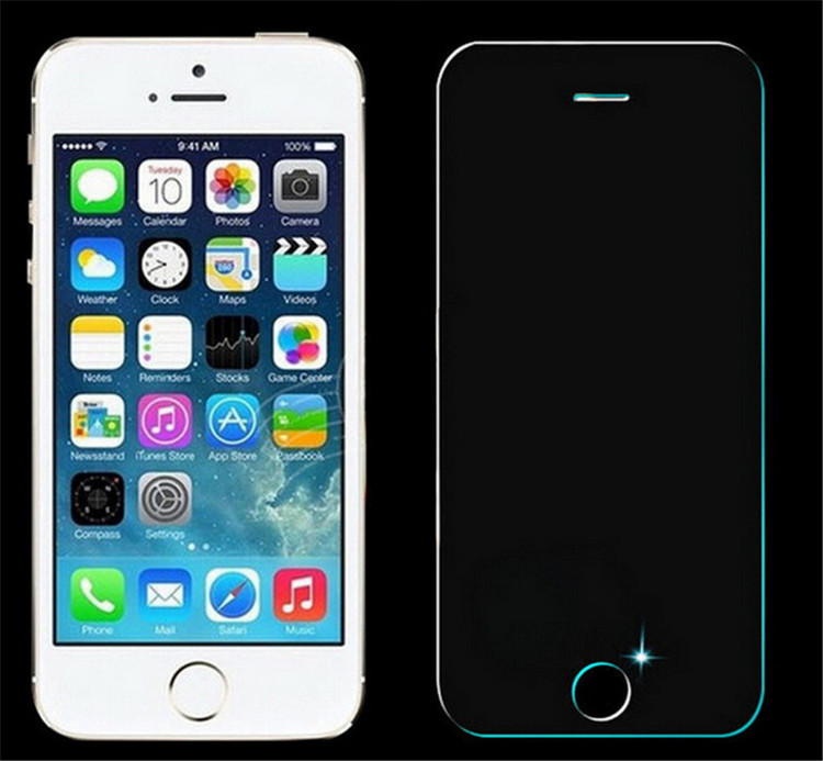 0.33mm Thickness 9H Anti Shock Tempered Glass Protective Film For iPhone 4 4S
