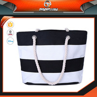 hot wholesale canvas beach bags for lady's, tote simple shoulder bag