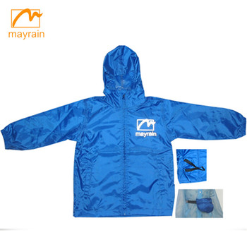 wholesale polyester soccer rain jacket