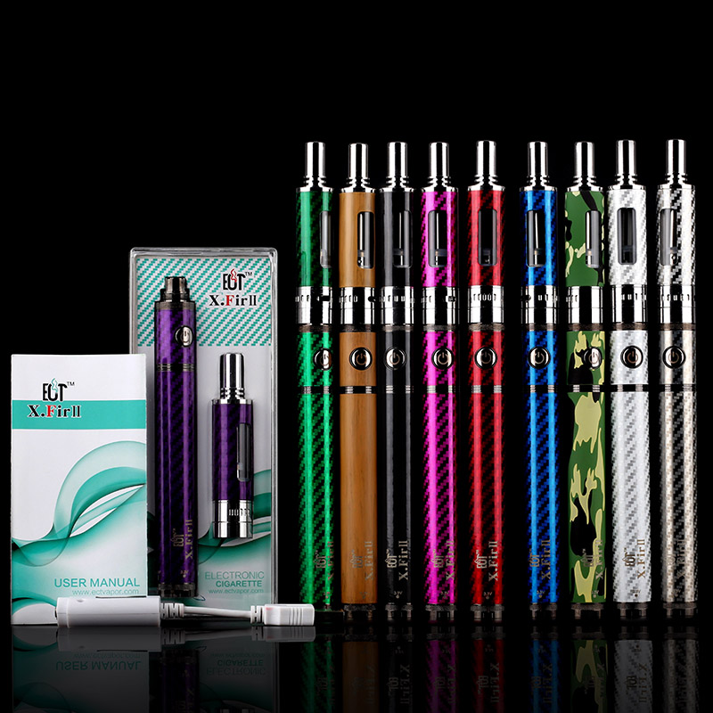 China 2016 Wholesale X.Fir II e cig kit big Vapor e-cigarette 1100 1600mAh Battery pen Kits with various colors e cigarette pipe