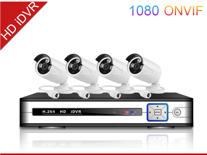 2015 best seller 4ch cctv NVR KIT outdoor support P2P POE h.264 NVR Kits 4pcs IPcamera