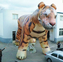Grand inflatable animal balloon Emulation inflatable tiger balloon for display decoration