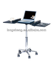 movable Laptop Table Computer Desk with metal leg and cylinder