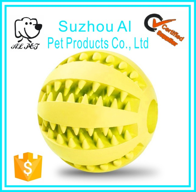 New Rubber Treat Ball Tooth Cleaner Dog Cleaning Chew Toys Indestructible Pet Toy