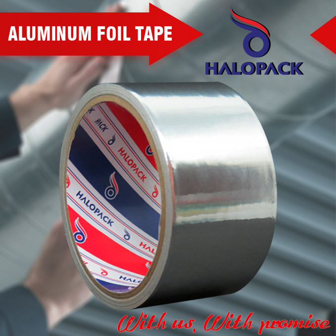 Hot Sale Silver Color Fireproof Heat Resistant Aluminum Foil Tape