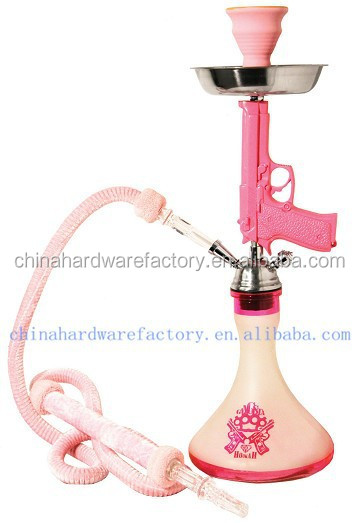 Inhale patented New design hookah pink gold black silver pistol gun hookah
