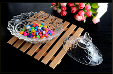 Glass candy jar European storage tank of dried fruit can candy cans gifts home decoration ideas glassware