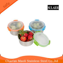Snap Seal Leak-proof Stainless Steel Lunch Box Containers and Food Storage Snack Containers for Kids and Adults