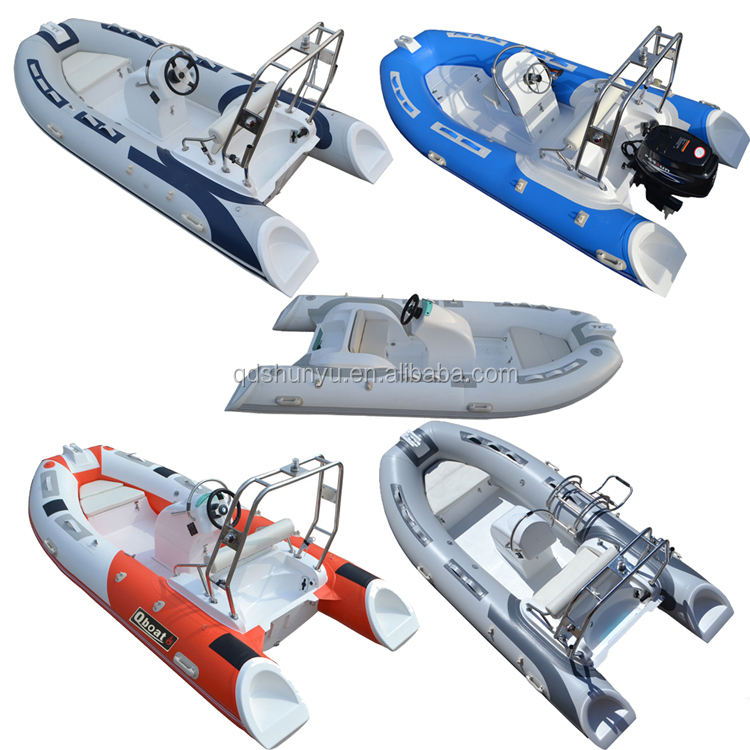 SHUNYU Q boat fiberglass hull inflatable boat with CE