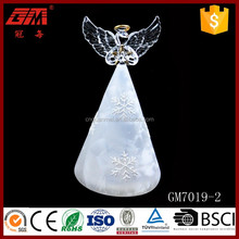 Factory supplier ISO9001 winged glass angel with star