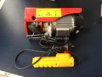 ISO certificated Small Electric Winch Hoist Mini Wire Rope Winch