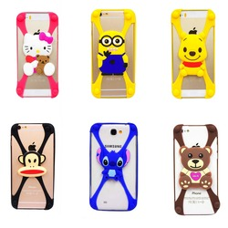2015 Universal all cell phone model Cartoon winnie teddy bear minion stitch soft silicone case for iphone4 4s/5 5c 5s/6 6s etc