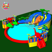 Durable Hot Selling Low Prices Swimming Pool Games Commercial Mobile Dinosaur Kids And Adult Cheap Giant Inflatable Water Park