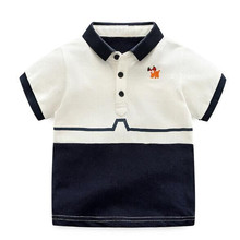 2018 Wholesale newborn baby clothes T-shirt 100% Cotton Organic Long Sleeve Baby polo Tshirt