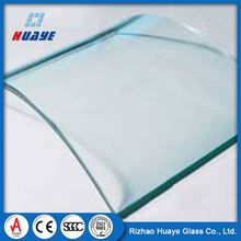 Curved Bulletproof Toughened Glass For Curtain Wall