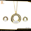 Fashion Gold Plating Stainless steel Jewelry Set For Party