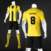 Custom club team new design black yellow soccer jersey