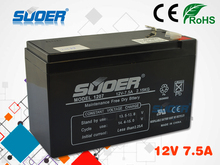 Suoer Battery 7.5AH Maintenance Free External Storage 12V Li-ion Battery For Inverter