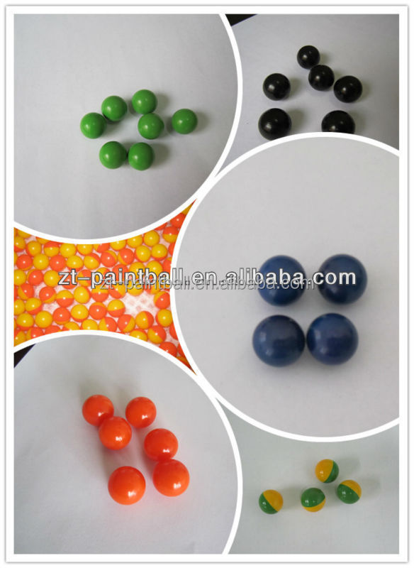 colorful PEG paintballs for sports game