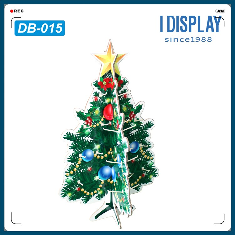recyclable cardboard floor display standee for christmas tree