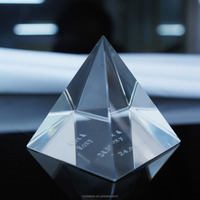 wholesale crystal custom paperweight crystal laser engraving pyramid shape paperweight