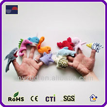 Free Sample Promotional finger puppets / Plush Sea Animal Finger Puppets for sale