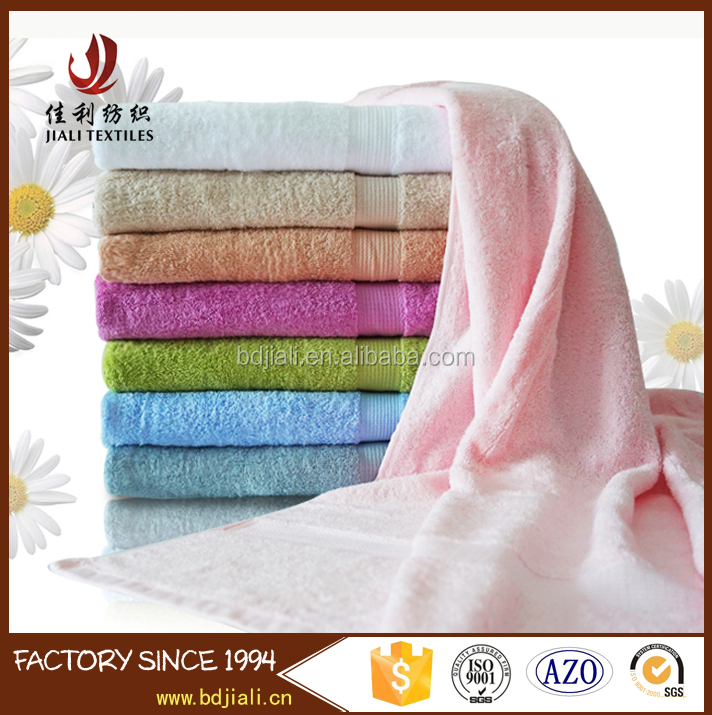 Wholesale bright colored dobby thin cotton bath towel
