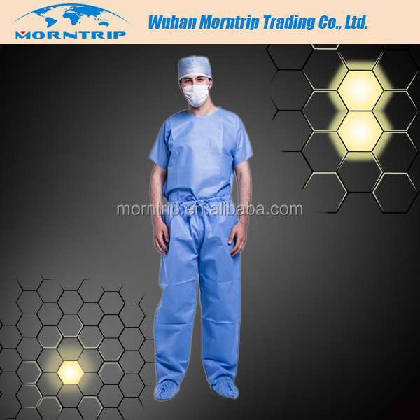 Disposable Doctor Protective Scrub Suit, Sterile or Non-Sterile