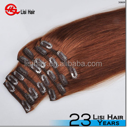 Unprocessed 8A Malaysian Hair,double wefted 150g remy full cuticle hair extensions clip in full head