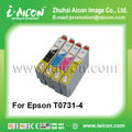 For Epson ink cartridge T0731/T0732/T0733/T0734