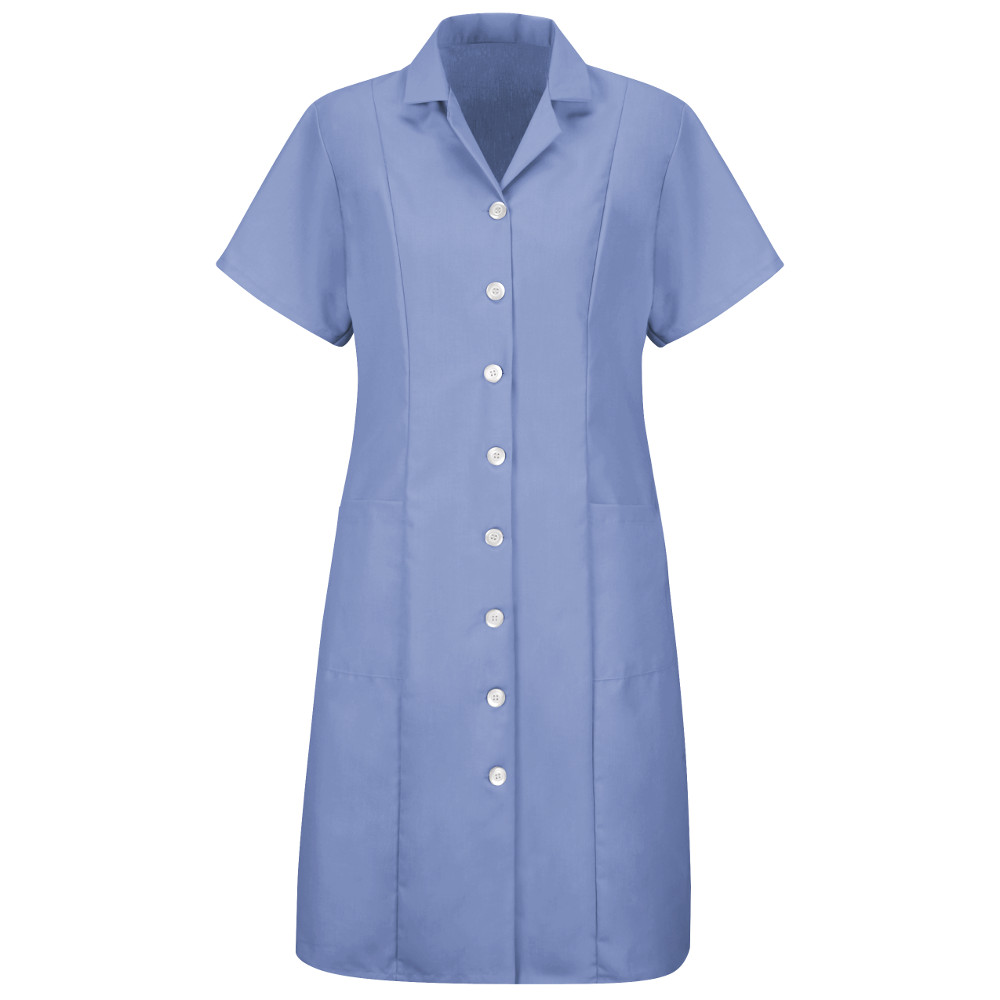 women's fitted adjustable smock button front short sleeve dress