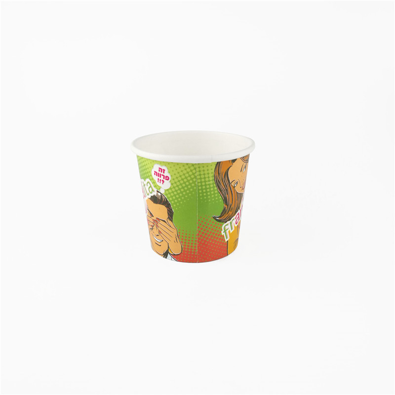 <strong>1000</strong> pcs/ctn 5oz 150ml ice cream paper cup printed Ice Cream cup creative cartoon design 5oz ice cream paper cup with spoon lid