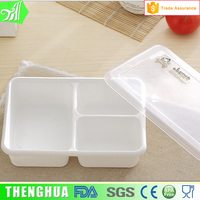 Transparent Plastic Grid Lunch Box Safe PP Food Container