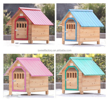 Outdoor wooden pet house kennel house