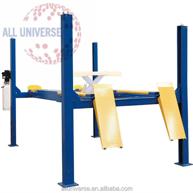 4 wheel alignment equipment car workshop lifting equipment electric hydraulic used 4 post car lift for sale