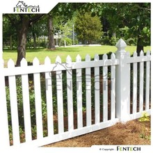 Fentech Top Standard White Cheap Widely Used Recycled Plastic Gates,Garden Fence