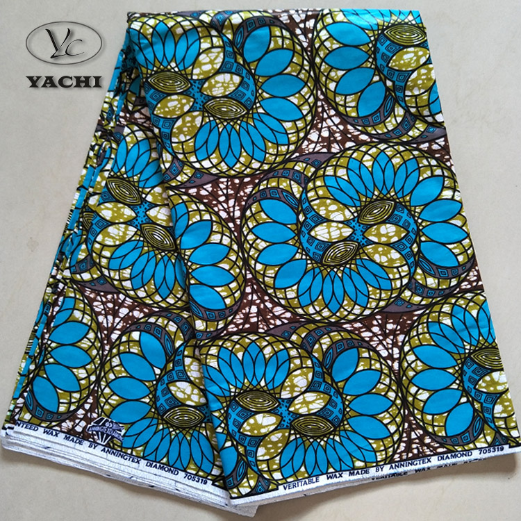 2018 new design wholesale african wax print fabric 100% <strong>cotton</strong>
