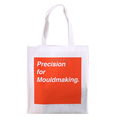 White reusable customized silk printing promotion non woven bag