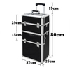silver aluminium hair tool case with trolley