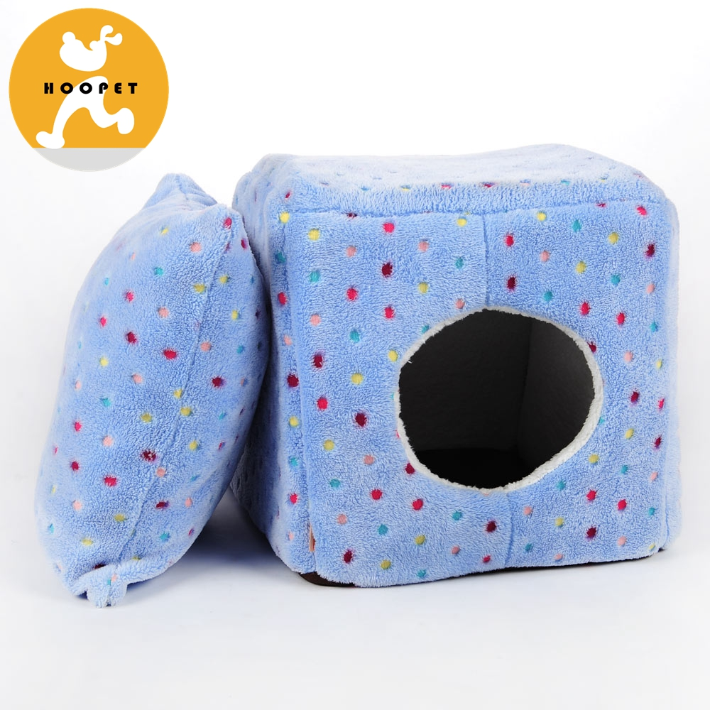 Fashion Square Design Portable Cat Cave Bed House For Pet Product