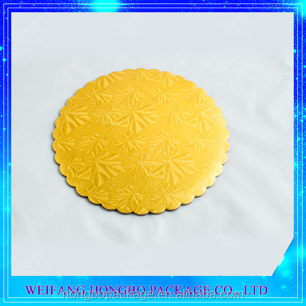 round gold corrugated cardboard circles