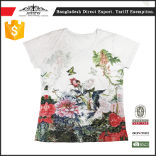 Hot selling printed women tee shirt With Promotional Price