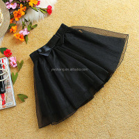 Europle and American wholesale mini chiffon skirt summer puffy short tutu tulle skirt with big bow