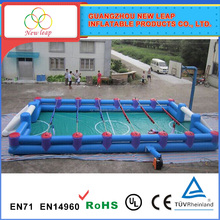 Inflatable foosball pitch, human table football pitch, inflatable human foosball