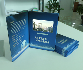 A4 7inch hardcover video brochure adversting player LCD video booklet