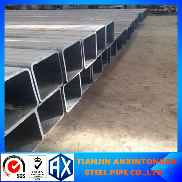 square steel pipe/hollow section s275 rectangular steel profile 3 x4 galvanized rectangular hollow section automobile