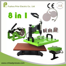 HP8IN1 Manual T-shirt Cap Mug Plate Sublimation Transfer Combo Rotary Heat Press Machine