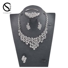 E-7302 CS Wholesale 2017 Costume African Dubai Women Jewelry Sets,Fashion Diamond Bridal Wedding Jewelry Sets Necklace